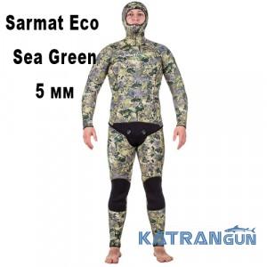 Гідрокостюм базова модель Marlin Sarmat Eco Sea Green 5 мм