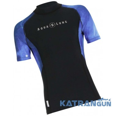 Мужской рашгард AquaLung Galaxy Blue, короткие рукава