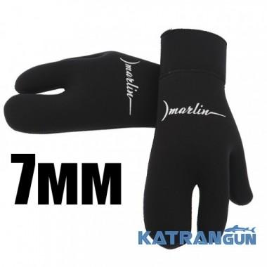 Зимние трехпалые перчатки Marlin Open Cell, 7 мм