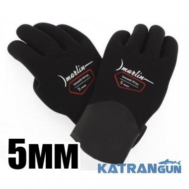 Перчатки подводной охоты Marlin Smooth Wrist 5 мм