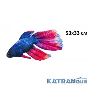 Подушка-игрушка Сиамская рыба-боец (53х33 см)