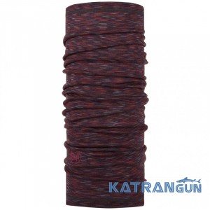 Стильний вовняний бафф Buff Lightweight Merino Wool shale grey multi stripes