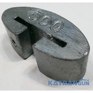 Груз подводной охоты 0,5 кг; поясной съёмный; закруглённый