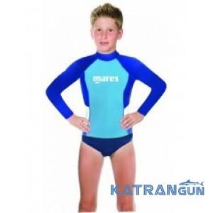 Дитячий рашгард для плавання Mares Rash Guard Boy Junior, довгий рукав, для хлопчика