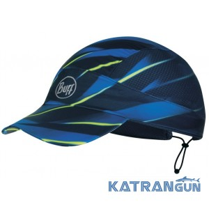 Кепка для бега Buff Pack Run Cap R-Focus Blue