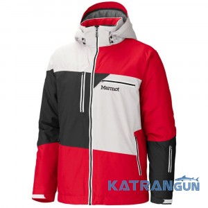 Горнолыжные зимние куртки Marmot Treeline Jacket, Team Red/Whitestone/Black