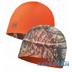 Двусторонняя камуфляжная шапочка Buff Mossy Oak Microfiber Reversible Hat obsession military-orange