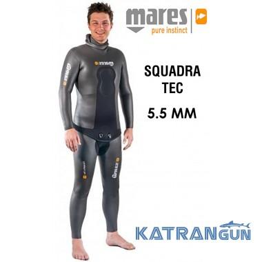 Голый гидрокостюм для подводной охоты Mares Squadra Tec 5.5 мм