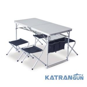 Кемпинг раскладной стол со стульями Pinguin Set  table + 4 stools