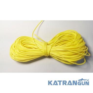 Линь для подводного ружья Katrangun Clyneema 2 мм жовтий