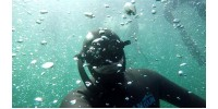 Глибинна нирялка 39 метрів Тренування підводне полювання Тести ласт і гідрокостюмів