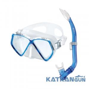 Набор маска трубка Mares Zephir Junior blue