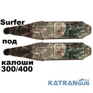 Лопаті для ласт C4 пластикові SURFER CAMO Soft під калоші 300/400
