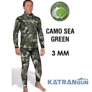 Елітний костюм для підводного полювання Sporasub Camo Sea green 3 мм
