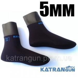 Носки подводной охоты KatranGun Hunter Anatomic WaterLock 5мм