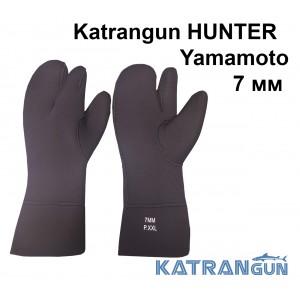 Рукавицы трехпалые Katrangun Hunter Yamamoto 39; 7 мм