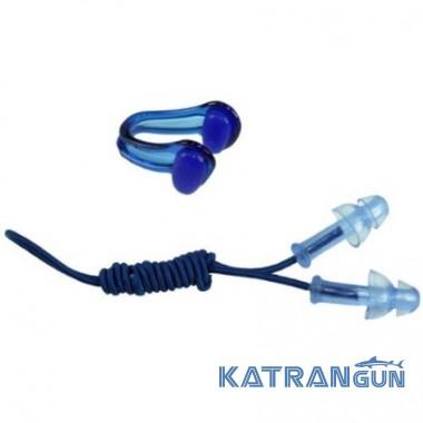 Зажим для носа плавание + беруши для бассейна Cressi Sub Swimming Ear Plugs & Nose Clips