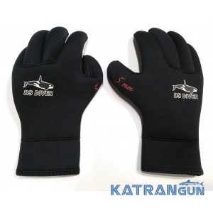 Перчатки для подводной охоты BS Diver Ultrablack 5 мм
