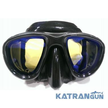Маска для подводной охоты с просветленными стеклами BS Diver Ghost