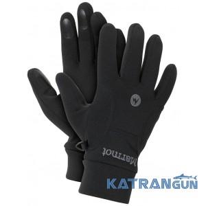 Рукавички чоловічі флісові Marmot Power Stretch Glove, Black