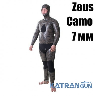 Зимовий гідрокостюм для підводного полювання Marlin Zeus Camo сендвіч 7 мм