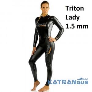Гидрокостюм женский для подводного плавания Cressi Sub Tritone Lady 1.5 мм