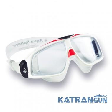 Окуляри для плавання Aqua Sphere Seal 2.0, clear lens white / red