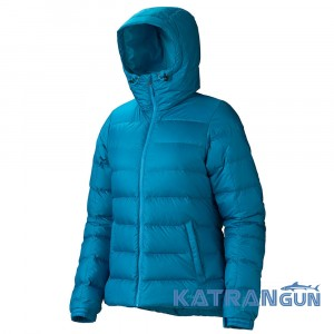 Класична пухова куртка Marmot Women's Guides Down Hoody, Aqua Blue