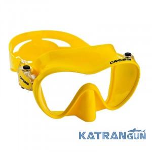 Маска для плавання без рамки Cressi Sub F1; жовта