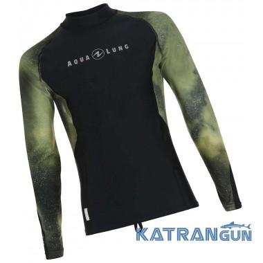 Мужская футболка для плавания AquaLung Galaxy Camo, длинные рукава
