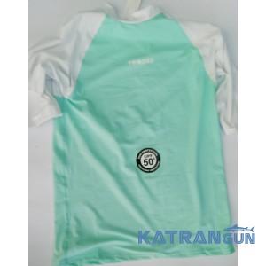 Лайкрова футболка для снорклінгу Tribord, світло-бірюзова, короткий рукав