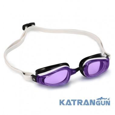 Стартовые женские очки Michael Phelps K180 Lady; черно-белые, линзы фиолетовые