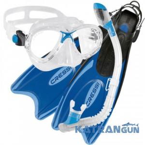 Детский набор для плавания Cressi Sub Palau Kid; синий