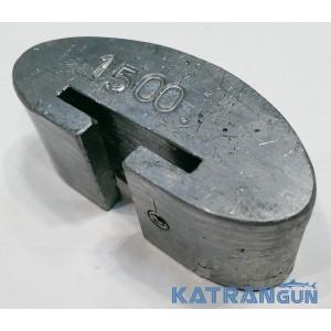 Вантаж для підводного плавання 1,5 кг; поясний знімний; закруглений