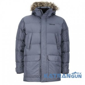 Теплый мужской пуховик Marmot Men's Steinway Jacket, Steel Onyx