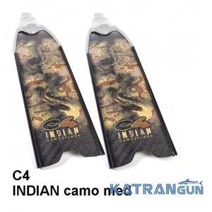 Карбоновые ласты для фридайвинга С4 INDIAN camo med SF