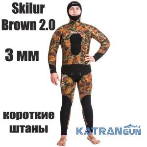 Гидрокостюм мужской Marlin Skilur Brown 2.0; 3 мм; короткие штаны