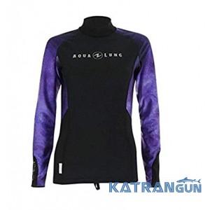 Тенниска с длинным рукавом AquaLung Rashguard Galact Lady, Purple