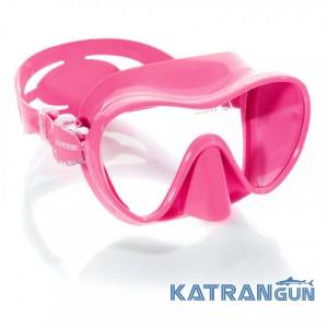 Маска для підводного плавання Cressi Sub F1; рожева