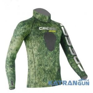 Лайкрова камуфляжна футболка для підводного полювання Cressi Sub Green Hunter