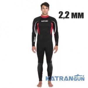 Чоловік гідрокостюм для дайвінгу Seac Sub Relax 2,2 мм
