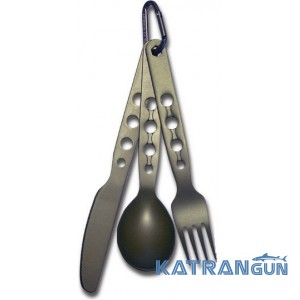 Ложка вилка ніж туриста Sea to Summit Alpha Set (Knife, Fork, Spoon) 3ps