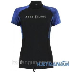 Женская лайкровая футболка AquaLung Galaxy Blue, короткий рукав