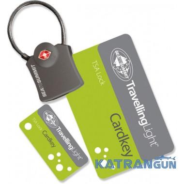 Навесной замок для сумки Sea to Summit Card key TSA lock