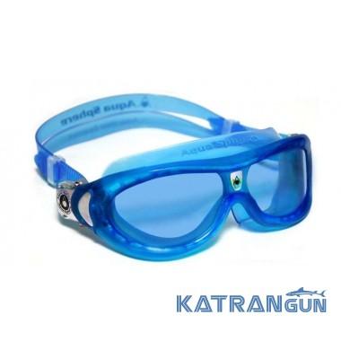 Детские очки для плавания Aqua Sphere Seal Kid, линзы синие