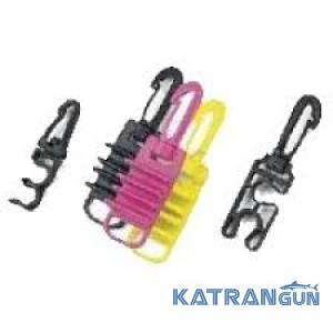 Пластиковый карабин BS DIVER; с держателями для крепления шлангов