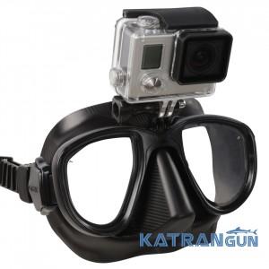 Маска для фридайвинга Omer Alien с креплением для камеры