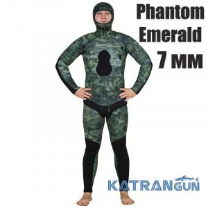 Гідрокостюм для підводного полювання Marlin Phantom Emerald 7 мм