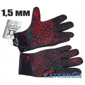 Перчатки для дайвинга Hydra Red Camo 1,5 мм