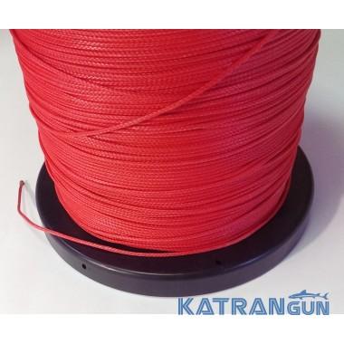 Линь для подводной охоты Kalkan Clyneema 2 мм; красный